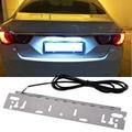 Universal 12-15 V Brilho LED de Grande Potência Frame Da Matrícula Cauda Luz Luz de Marcha Atrás Luz branca luz Da Placa de Licença lâmpadas