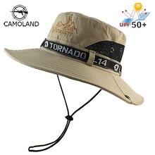 UPF 50+ Солнцезащитная шляпа ведро Осень Мужчины Женщины Рыбалка Boonie шляпа Защита от солнца УФ длинная большая широкая шляпа с защитной сеткой Пешие прогулки Открытый пляж Кепка
