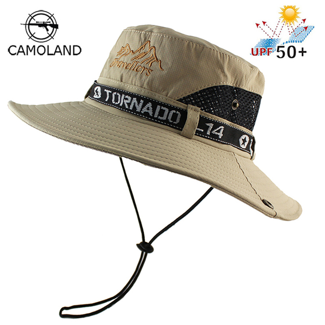 be287bbfb4962 UPF 50+ Sun Hat Bucket Summer Men Women Fishing Boonie Hat Sun UV Protection  Long Large Wide Brim Mesh Hiking Outdoor Beach Cap