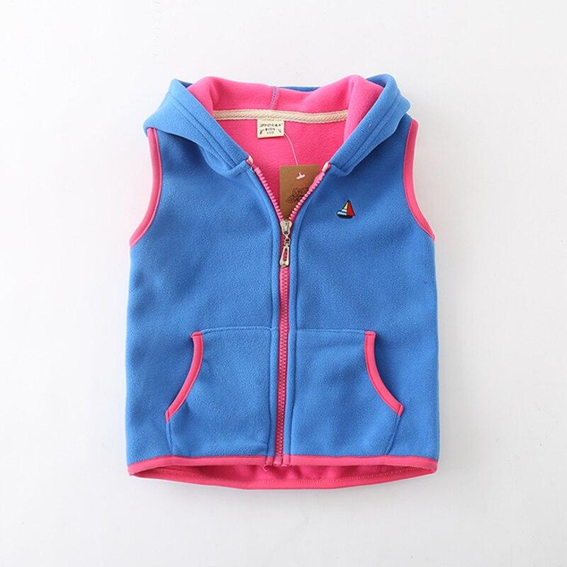 Sundae Angel Children Vest For Girl Boys Waistcoat Hooded Warm Polar fleece Sleeveless Outerwear Kids Baby Vests Coat For 18M-7Y 2