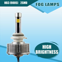 Newest HB3 9005 Cree LED Fog Lamps Automotives Convision Bulbs High Brightness 2SMD 6000K Super White