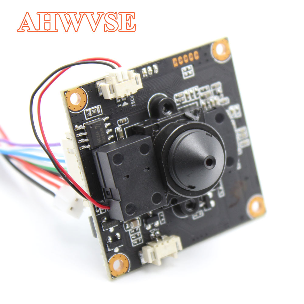 AHWVE Mini DIY IP Camera Module Board With IRCUT 1080P 2MP POE ONVIF H264 H.265 Mobile Serveillance XMEYE 3.7mm Lens ONVIF
