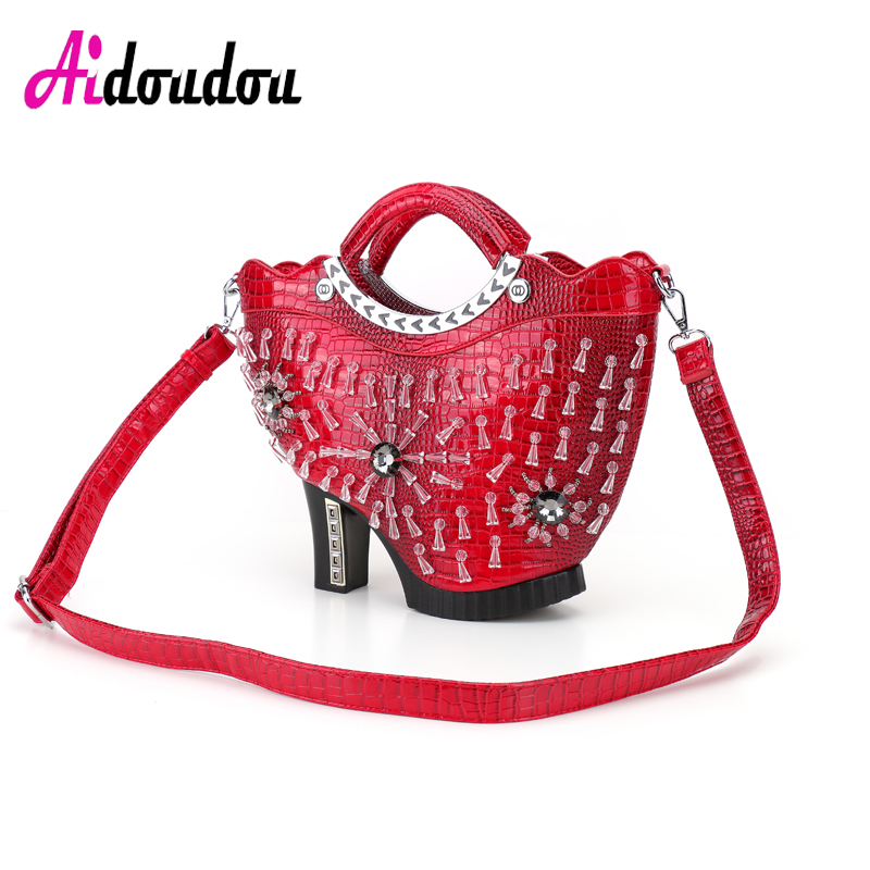 personality snake punk rivet women handbag big crocodile messenger bag party clutch women's leather bag alligator famous brand yuanyu 2018 new hot free shipping python leather handbag leather handbag snake bag in europe and the party hand women bag