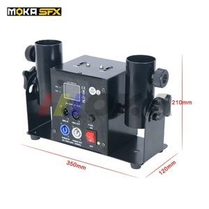 Image 1 - Duplo tiro streamter lançador dmx confetti máquina spray colorido papel atirador casamento