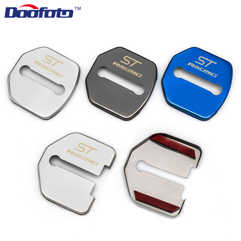 Doofoto Auto Door Lock Cover Car Styling Fit For Ford Focus 2 Mk2 2012 2013 Kuga Fiesta Escape Car Badge Accessories Car-Styling