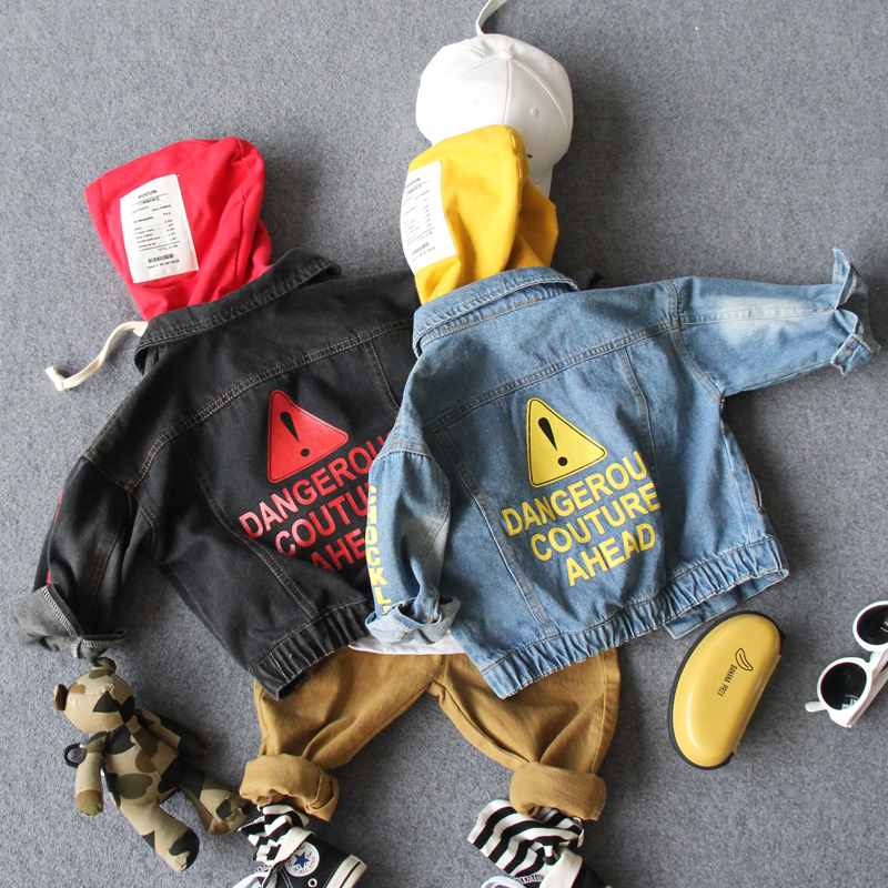 new 2018 autumn boys denim letter jacket with hood 1pc fashion style casual boys jacket kids handsome jacket boys coatnew 2018 autumn boys denim letter jacket with hood 1pc fashion style casual boys jacket kids handsome jacket boys coat