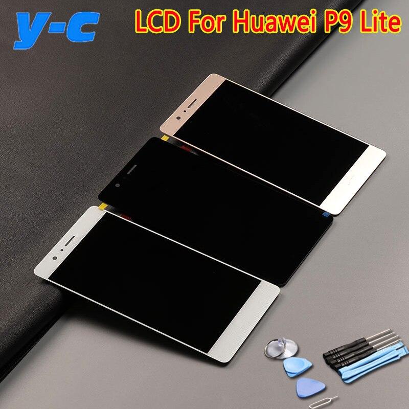 Para huawei p9 lite pantalla lcd pantalla táctil 100% nuevo accesorio de reempla