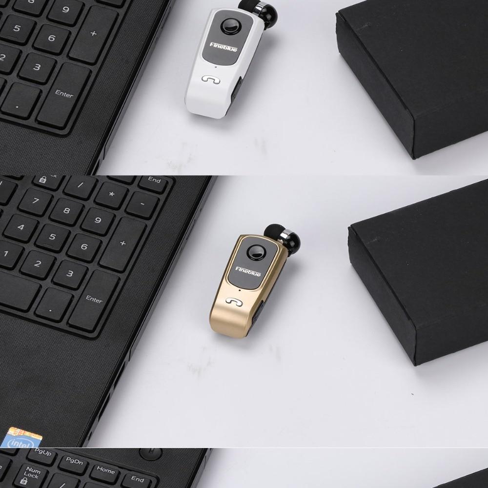 Finblue F920 Wireless Bluetooth V4.0 Earphone Calls Vibration Remind Wear Clip Headset