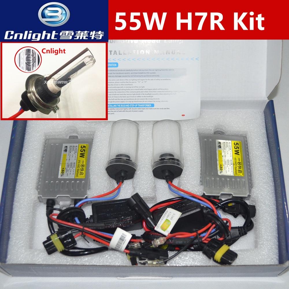 Быстрый яркий 55 Вт HID комплект ксенона Cnlight H7R набор керамических H7R 4300К 5000К металла H7R набор автомобиля стайлинг аксессуары cnlight H7R спрятанный Сид
