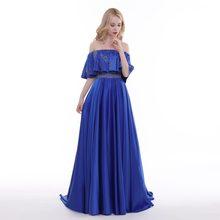 603d4d2aa76ff Finove 2019 Yeni balo kıyafetleri Uzun Bir Çizgi Seksi Straplez Boncuk  Kristaller Mavi Saten Parti Abiye Kadın Abiye Elbise Kat .