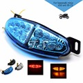 brand 3 colors optional motorcycle turn signal Integrated LED Tail Light for kawasaki ninjia Er6n z800 motorcycle boots harley d