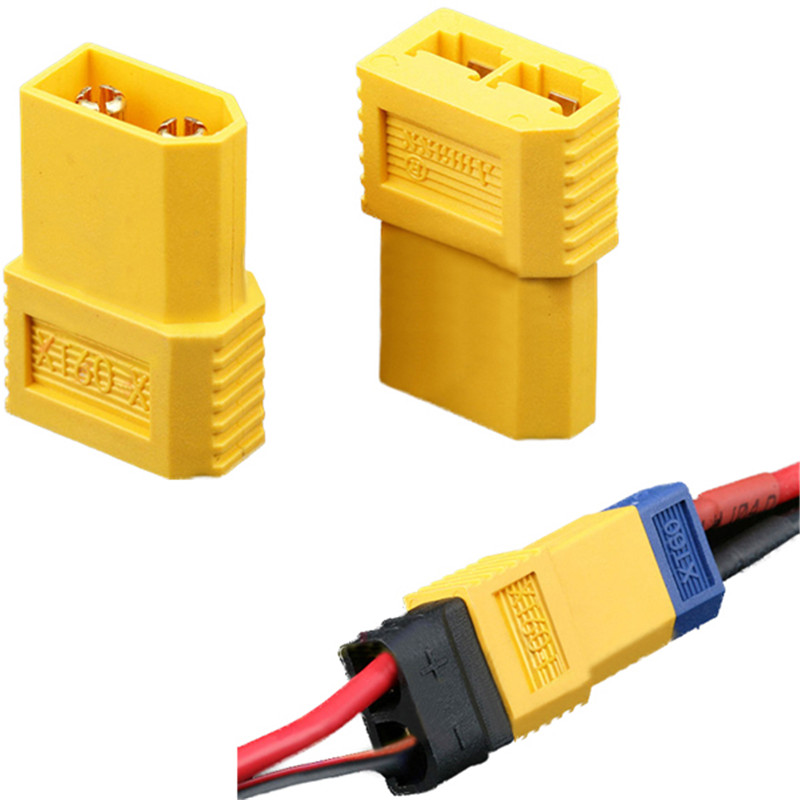 Amass XT60-X XT60 Male Plug To TRX Female Converter Adapter Plug For Traxxas Plug RC Helicopter Spare Parts Lipo Battery ESC