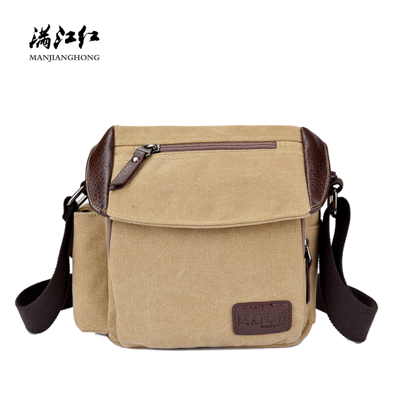 Vintage Small Men Messenger Bags Canvas Casual Crossbody Bags For Men Fashion Patchwork Leather Shoulder Bag Male Satchel 1311 casual style print and canvas design satchel for women
