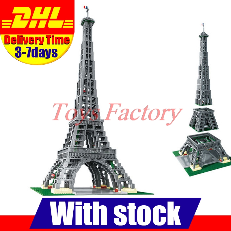 2017 New LEPIN 17002 City Street  The Eiffel Tower Model Building Assembling Brick Toys Compatible 10181 in stock new lepin 17004 city street series london bridge model building kits assembling brick toys compatible 10214