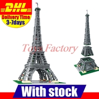 2017 New LEPIN 17002 City Street Creator The Eiffel Tower Model Building Assembling Brick Toys Compatible