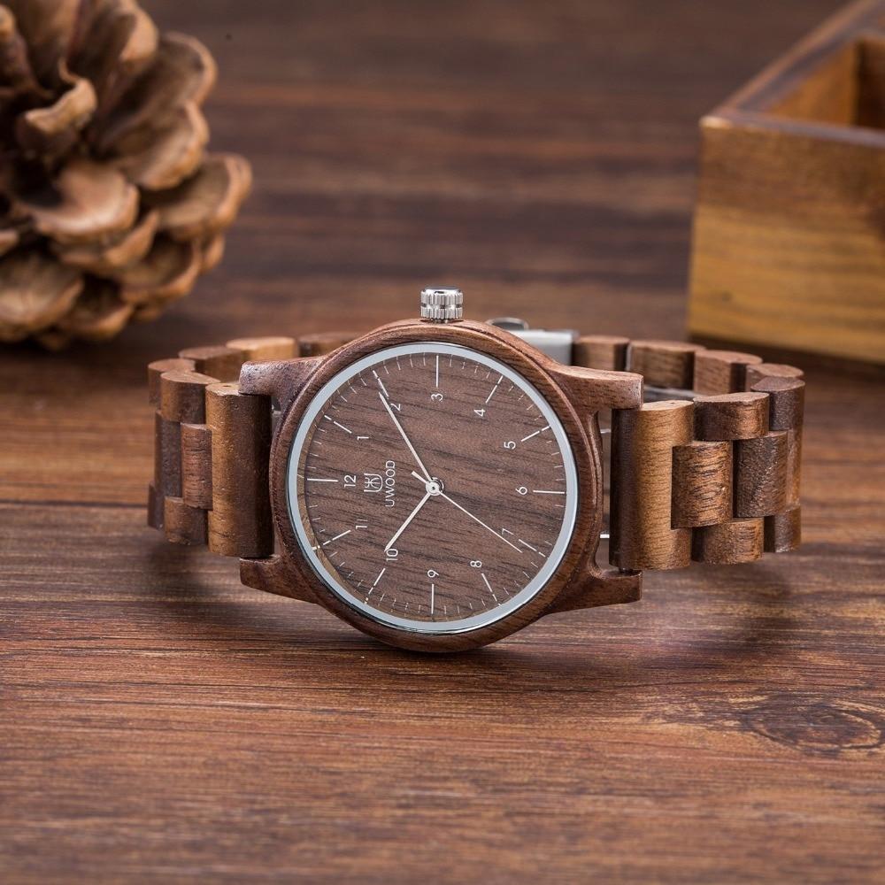 Fashion Men's Walnut Wristwatch Wood Watches Men Clock Men Women Wooden Watch Relogio Feminino Masculino 2018 Newest Top Brand