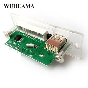 Image 4 - Blu Retroilluminazione A LED Modulo Scheda di Decodifica MP3 WMA Audio TF U Disk GMT + 8 Time Display Modulo DIY