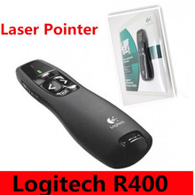 Brand Logitech R400 2.4G RF Mini Wireless Laser Pointer Presenter with LED Red laser ,Laser pen with retail package
