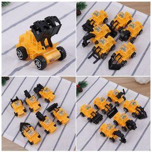 Image 3 - Mini juguete de ingeniería vehículo camión para construcción, juguetes educativos, juguetes modelo de camión, decoración de fiesta de cumpleaños para niños 6 uds.