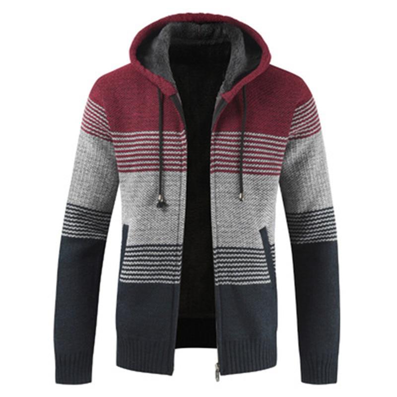 Sweater Men 2020 Winter Plus Velvet Thicken Cardigan Men Cashmere Wool Sweater Coat With Cotton Liner Zipper Cardigan For Men