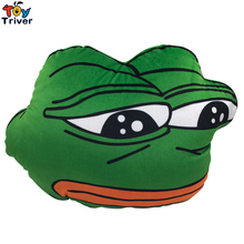 30X40cm Green Sad Frog Hand Warmer Cushion Plush toy Stuffed Doll Birthday Christmas Winter Gift Present Home Shop Deco Triver стоимость