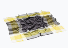 za Winter 2014 Tartan Scarf Designer Plaid Scarf Women Blanket Oversized Wrap Shawl Cozy Checked Yellow Factory