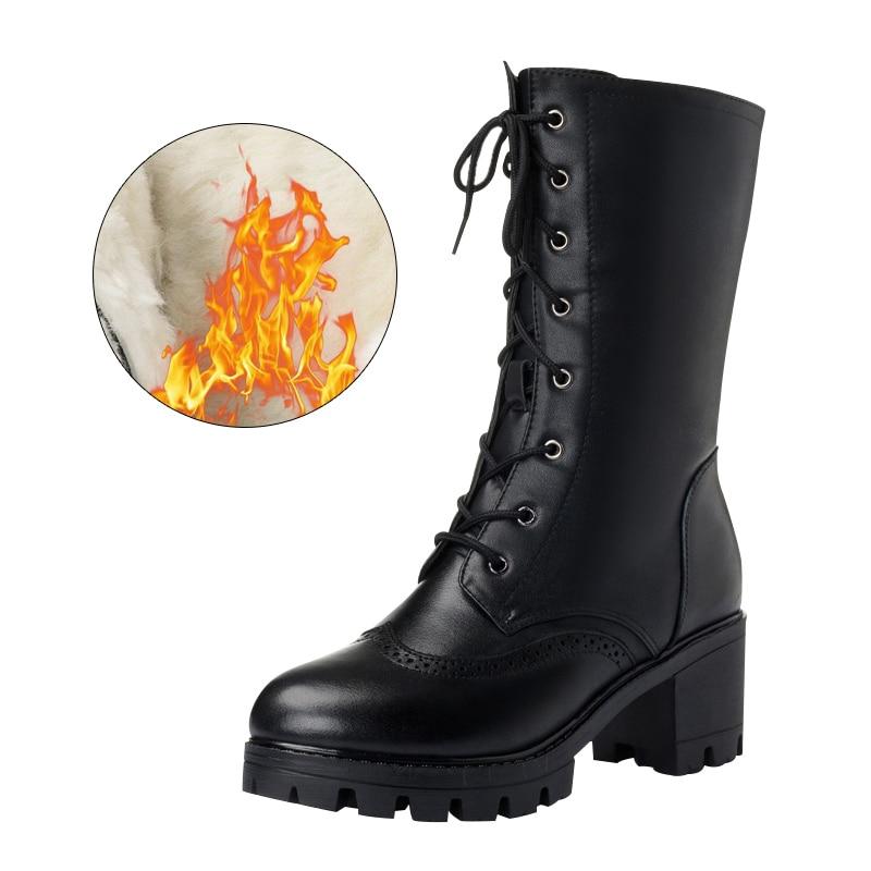 Botas Lana Black Hiver Goma De Tacón Wool Alto Altas Moda Prendas Las Plataforma Mujeres Mujer Negro Sondr Lining Zapatos gCdOw1qg