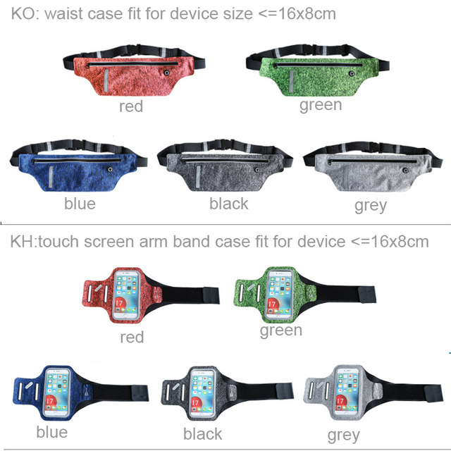 Waterproof Sports Arm Band Touch Screen Case Waist Belt Mobile Phone Pouch For Meizu m3e/Pro 6s/m5 Note/U20/Pro 6 Plus/m3x/M5s