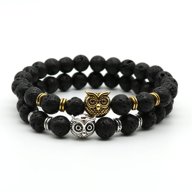Silver and Gold Plated Owl Bracelet