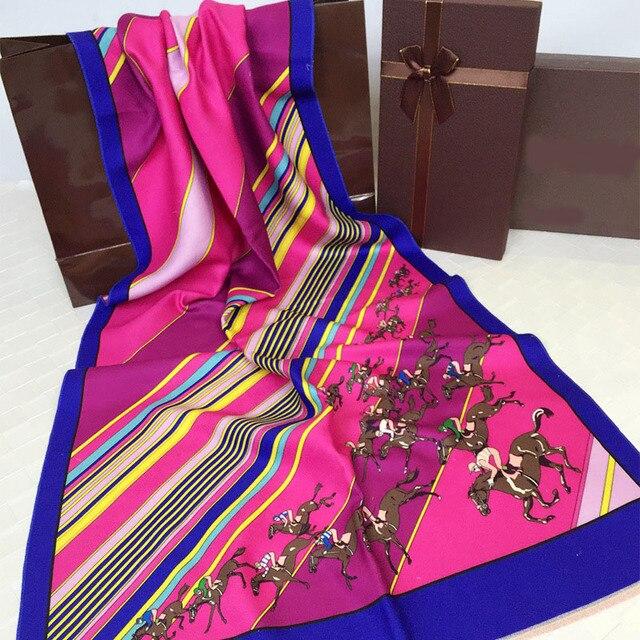 2016 мода люксовый бренд кашемир шарф женщины шарф полосатый узор зима верховая отпечатано теплый Шали и шарфы мягкие Пашмины