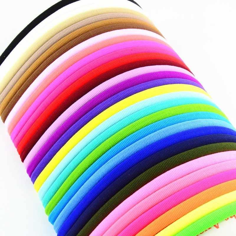 40 ピース/ロット 31 色の U ピックバルクタンヌードナイロンヘッドバンドスパンデックスヘアバンドフリーサイズナイロン毛アクセサリー HD19