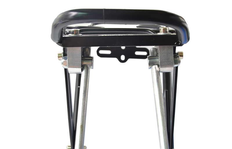 West biking 25kg capacidade de carga da bicicleta traseiro rack mochila assento cauda transportadora tronco pannier saco rack bicicleta com pacote