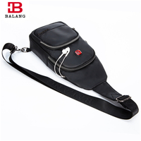 BaLang Men Messenger Bags Crossbody Bag Waterproof Oxford Chest Pack Casual Men S Travel Fashion Shoulder