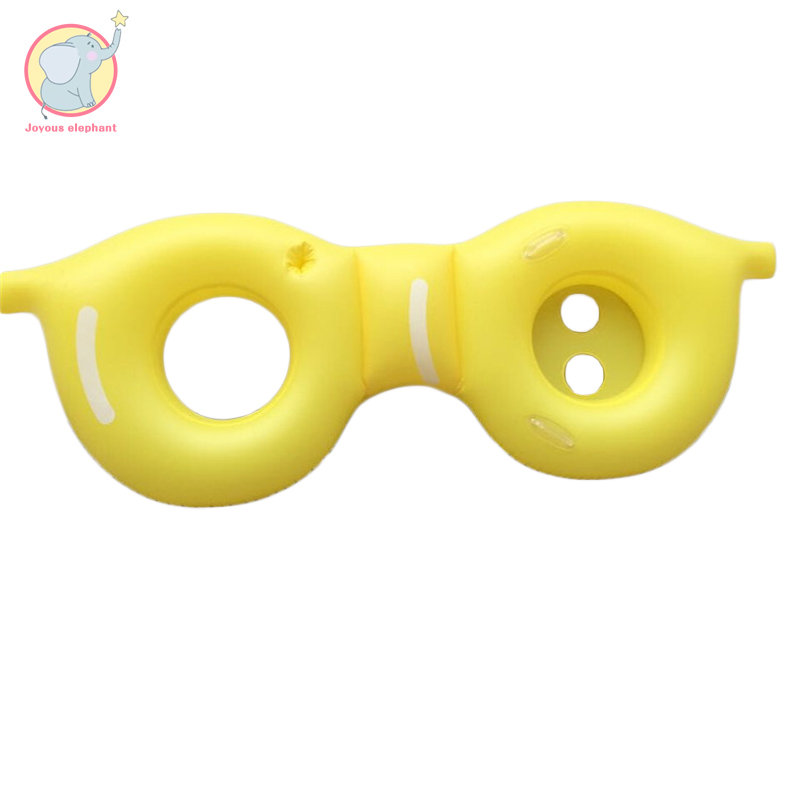 Géant gonflable jaune lunettes double piscine flottant rangée anneau de natation cercle de bain matelas d'air lit d'eau pour enfant adulte plage