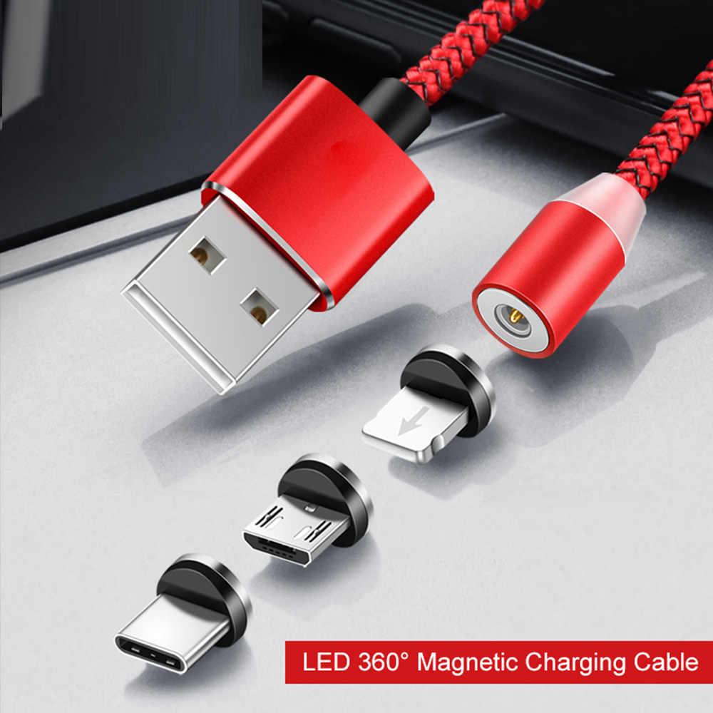 AM33 Micro USB Cáp Từ Bện Nylon Di Động Điện Thoại Dây Cáp cho Cổng Micro USB MicroUSB LED Cáp Sạc Nam Châm