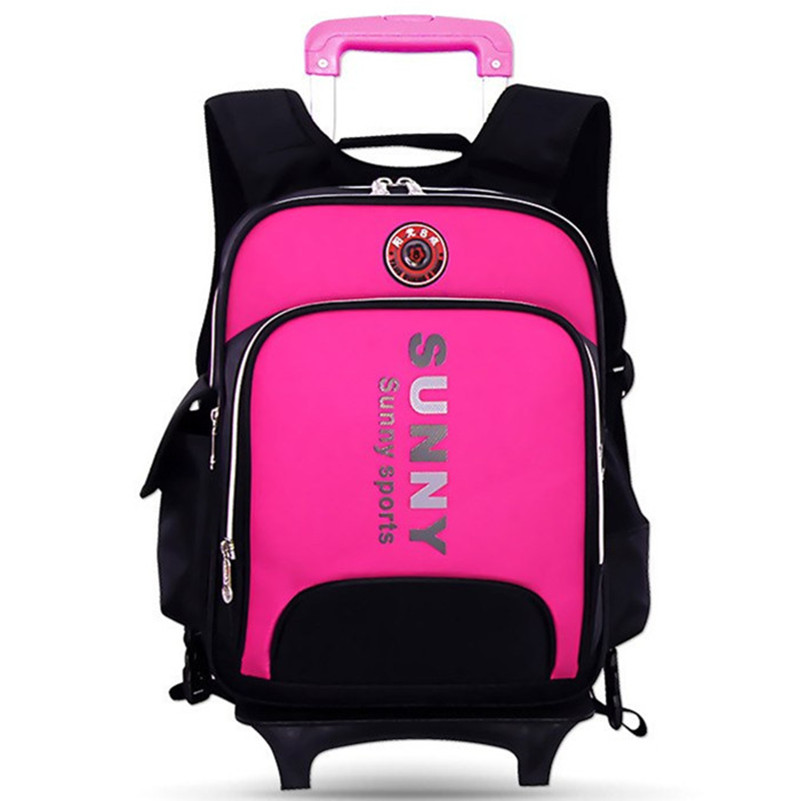 ФОТО 2016 new hot Taiwan genuine nobility schoolbag 1-3-6 grade boys and girls in pupils trolley bags luggage trolley Removable