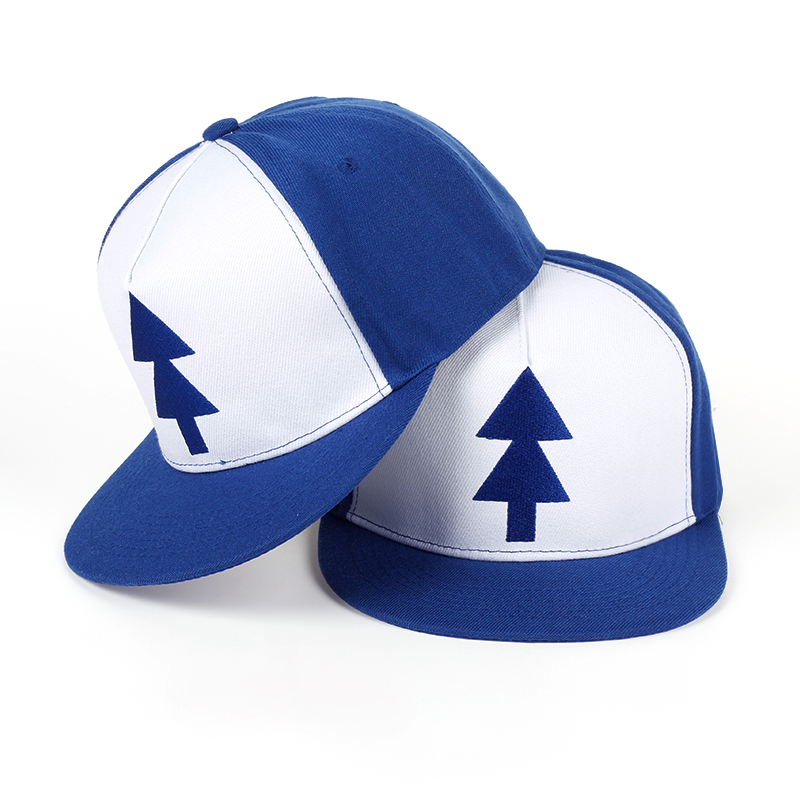 TUNICA  2017 Gravity Falls Baseball Cap BLUE PINE TREE Hat Cartoon Hip hop Snapback Cap New Curved Bill Dipper Adult Men Dad Hat high quality cotton gravity falls u s cartoon animation mabel dipper fans adult kids boys girls baseball hat caps gorras planas