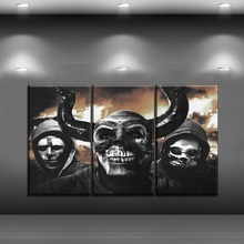 One Set Combinatorial Art Movies Poster 3 Panel The First Purge Painting Modern Wall Home Decorative Canvas Print Picture