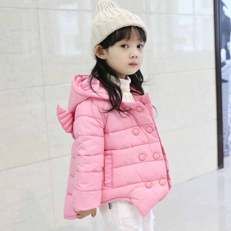2016 autumn and winter Girls warm cotton down jacket special offer wholesale thickening clothing for children
