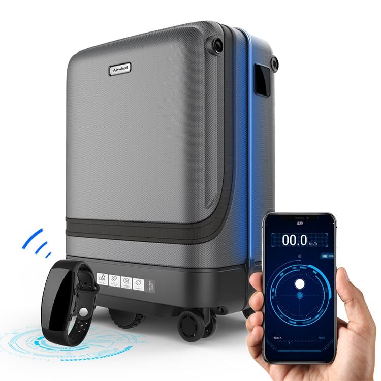 """20 """"สมาร์ท rolling กระเป๋าเดินทาง app รีโมทคอนโทรลกำลังติดตามกระเป๋าเดินทาง cabin spinner รถเข็นบนล้อ-ใน กระเป๋าเดินทางแบบลาก จาก สัมภาระและกระเป๋า บน   1"""