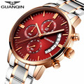 relogio masculino GUANQIN Mens Watches Top Brand Luxury Watches Men Sport Full Steel Quartz Watch Fashion Luminous Wristwatch