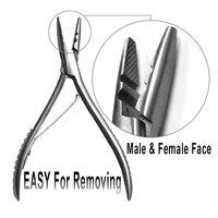 Edelstahl Haarverlängerungszangen 17,5*9*1 cm 165G Silivery Weiß Zangen Keratin Loop Haarverlängerungen Werkzeuge