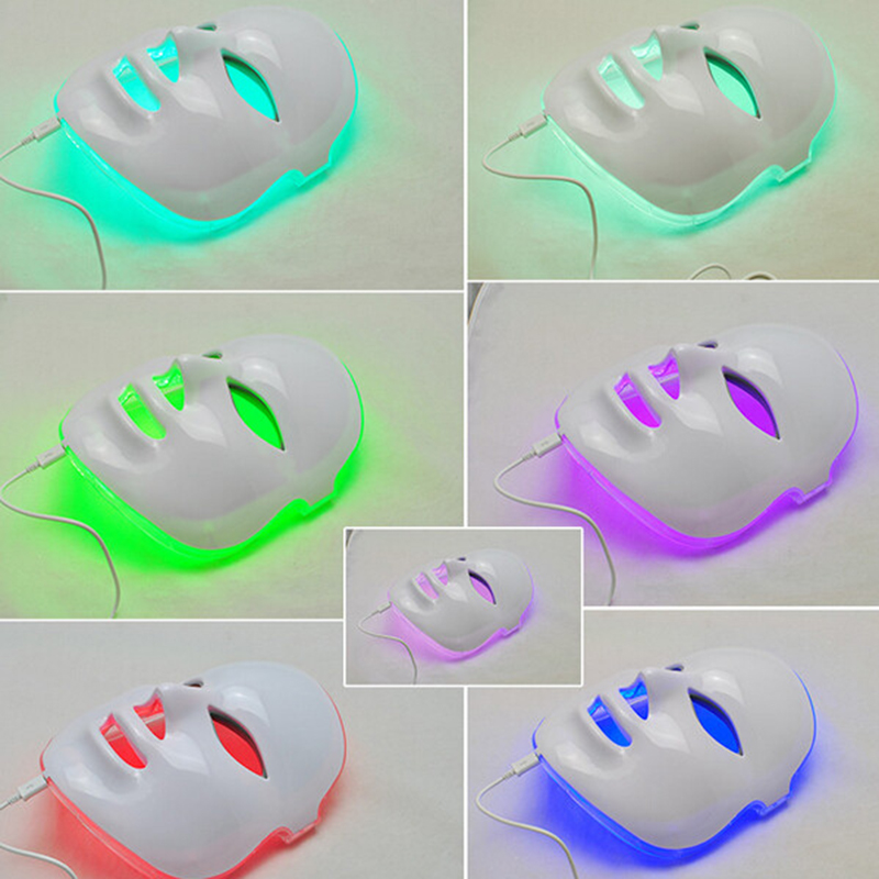 Healthsweet 7Colors PDT Photon Therapy LED Face Mask Skin Rejuvenation Wrinkle Acne Removal Anti-Aging SPA Facial Beauty Machine 7 colors light photon electric led facial neck mask skin pdt skin rejuvenation anti acne wrinkle removal therapy beauty salon
