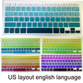 english US Layout Rainbow Gradient Keyboard Protector Cover Skin for apple mac MacBook Pro 13 15 17 Retina Air 13 inch