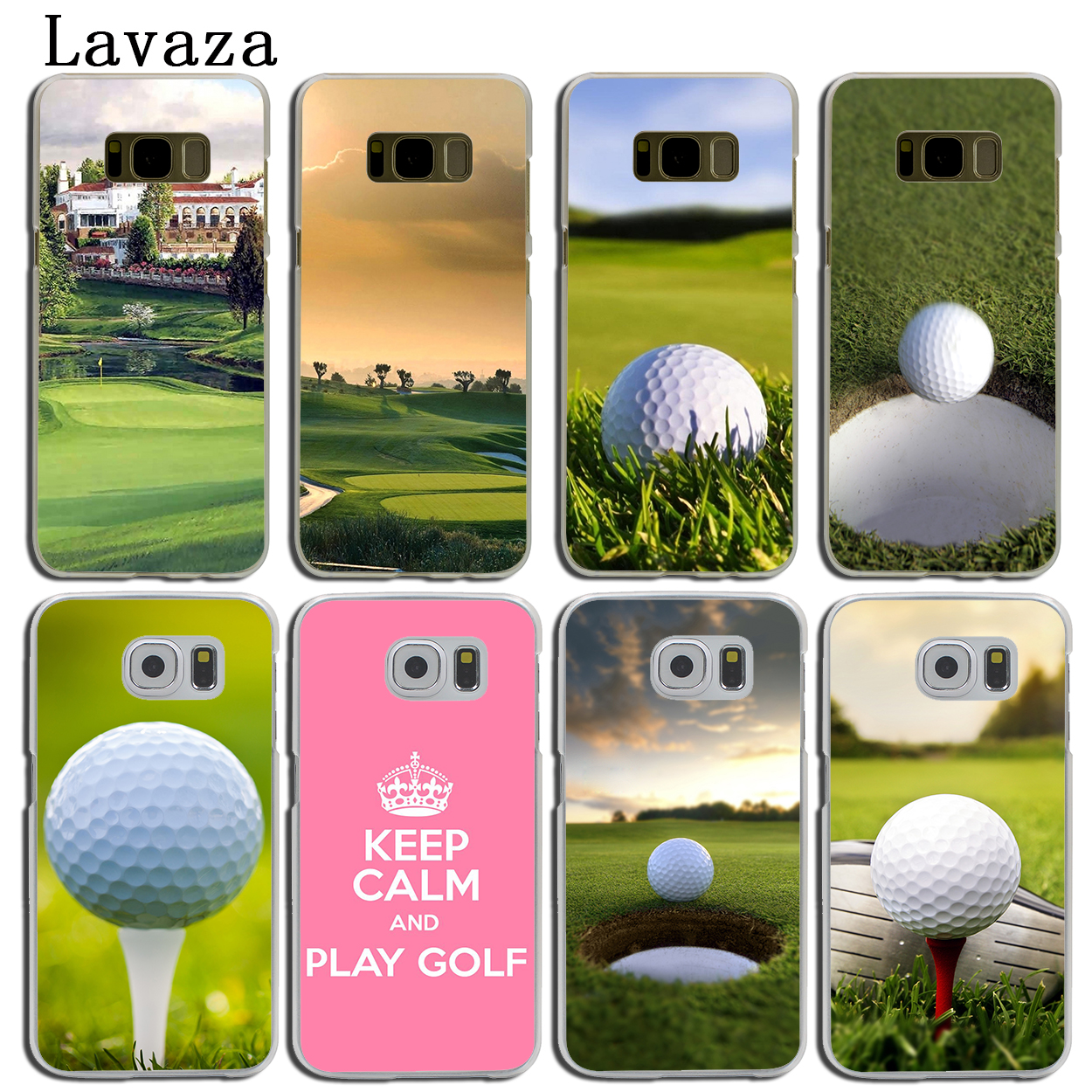 Lavaza Golf Sports Hard Phone Shell Case for Samsung Galaxy S8 S9 Plus S3 S4 S5 & Mini S6 S7 Edge Plus Cover