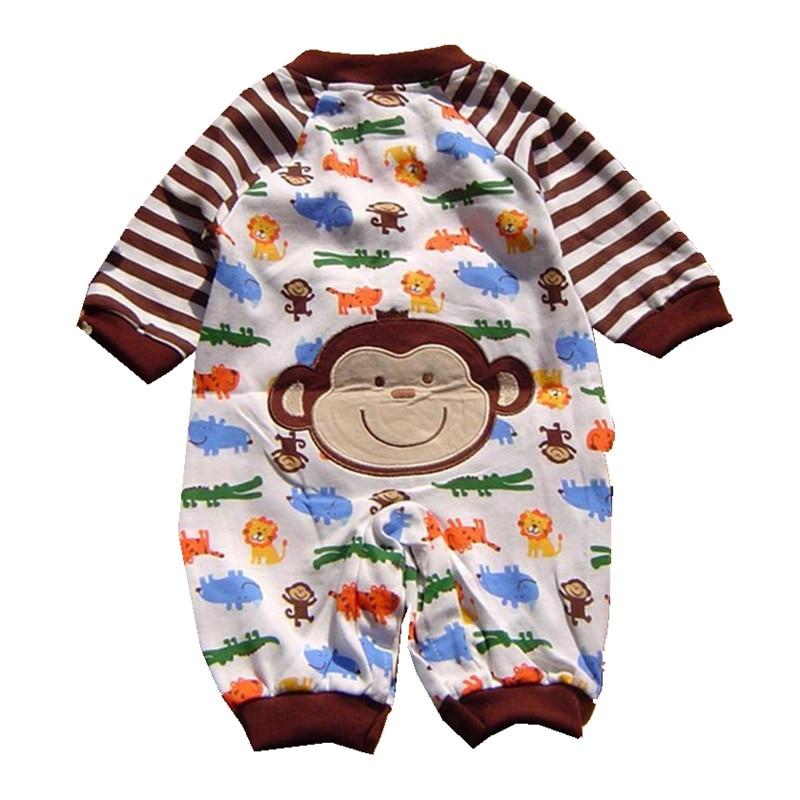 599c7cebd Floresta Zoológico Macaco Macacão de Bebê Macacão de Manga comprida ...