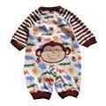 Largo de la manga bosque Zoo Monkey mamelucos del bebé del mono Fantasias Infantil macacão otoño 2016 bebé ropa Infantil del mameluco