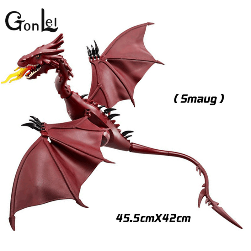 GonLeI The Lord of the Rings Hobbit THE LONELY MOUNTAIN Desolation of SMAUG Dragon Assemble Blocks Kids Toys Gifts pg931 the hobbit desolation of smaug 79018 the lonely mountain dol guldor battle building blocks educationa compatible with lpin