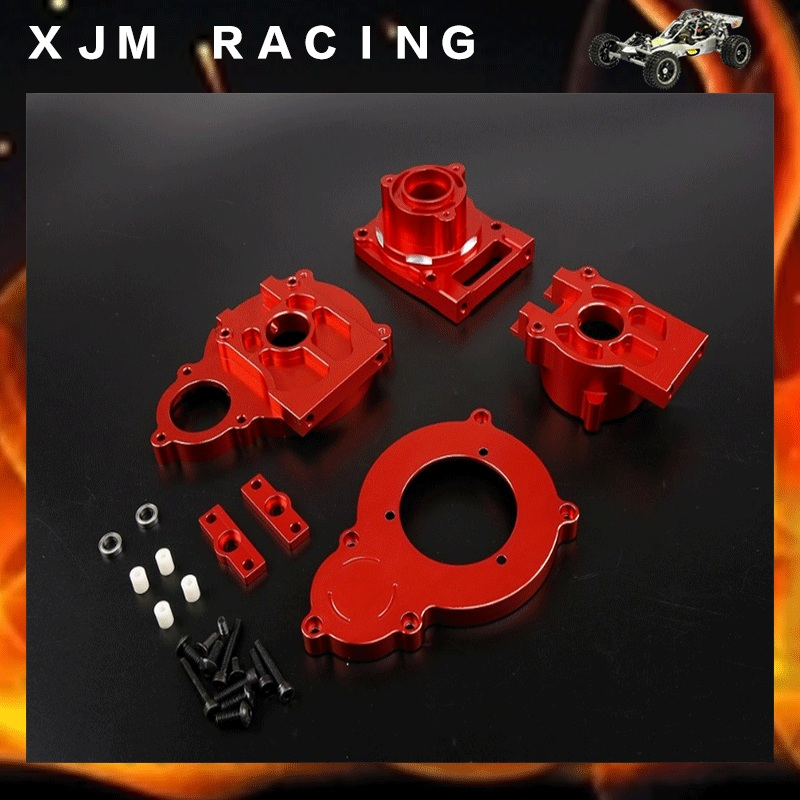 CNC Alloy Center diff gear box for 1/5 losi 5ive-T rc car parts centre diff mount set 02 for 1 5 losi 5ive t