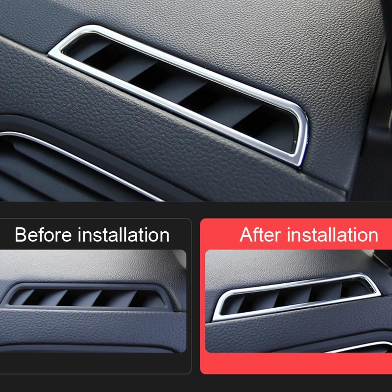 2pcs/set ABS Matte Interior Dashboard Upper Air Vent Cover Trim For VW Volkswagen Golf 7 Mk7 2013-2018 Left Hand Drive ONLY